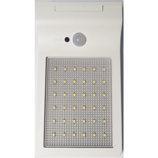Imagine PROIECTOR LED SOLAR CU SENZOR  3W 230V 6500K/350LM IP44 ALB AUTONOMIE 4H-20H ML 21000006