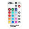 Imagine PROIECTOR LED  10W 230V 3000K+RGB/ 850LM IP65 NEGRU CU TELECOMANDA 182/140/28MM ML 21600001